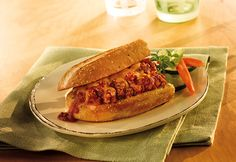 These mouthwatering sandwiches takeSloppy Joe's to a whole new level. They feature a mix of ground beef in a delicious Italian sauce, served on toasted garlic bread.