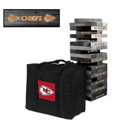 Kansas City Chiefs NFL Giant Onyx Stained Tumble Tower #victorytailgate