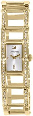 Swarovski Women's Indira Gold Stainless-Steel Swiss Quartz Watch buy at mariescrystals.com