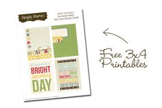 {Free 3x4 Printables} Journal cards from Simple Stories New Summer Fresh line!