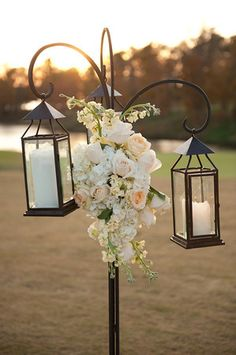 Lanterns for outdoor wedding ceremony