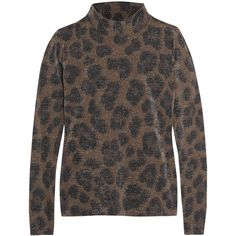 Topshop Unique Sidgwick leopard-print jersey and Lurex top (£65) ❤ liked on Polyvore featuring tops, leopard print, jersey shirt, form fitting shirts, form fitting tops, leopard shirt and brown shirt