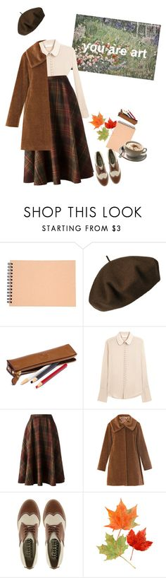 """Art School ~"" by this-perfect-dream ❤ liked on Polyvore featuring Muji, Betmar, Chloé, Société Anonyme, MaxMara and F-Troupe"