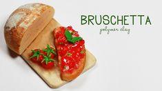 Miniature Polymer Clay Bruschetta TUTORIAL (Baking Soda trick) by This Charming Stuff