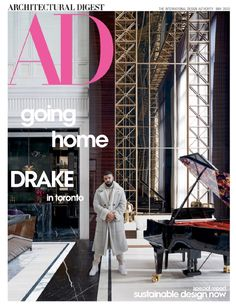 Create your dream home with Architectural Digest magazine, the guide to style-setting home design. Each monthly issue lets you experience the distinctive visions of world-famous architects, innovative designers and sought-after decorators. Drake Rapper, Architectural Digest, Aubrey Drake, Mug Design, Villa, Inspiration Design, Kelly Wearstler, Global Design, Home