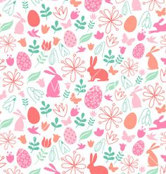 Seamless easter pattern vector  - by amourfou on VectorStock®
