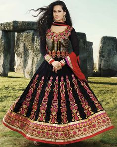 'Anarkali' was actually the name of a famous character played by actress Madhubala in the most famous movie of 1960 'Mughal-ae-azam'. Madhubala was seen in a unique kind of dress that was the transformed version of suit. It was tight around the waist and upper body portion and had a loose round flare downwards starting from waist. These were called Anarkali suits.