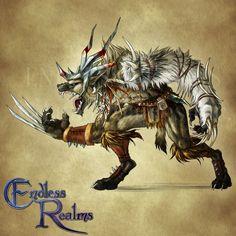 Endless Realms bestiary - Gnoll by jocarra.deviantart.com on @DeviantArt