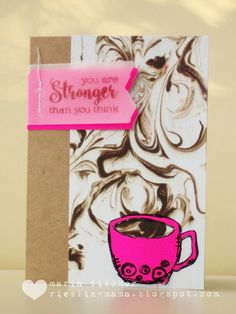 Sharing my first coffee card with you today. Joining the fun at the Fall Coffee Lovers Blog Hop  along with a gazillion other coffee enthu...