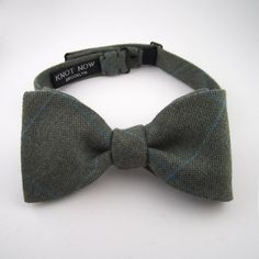 Bow Tie - Fern Grey with Blue Stripe. $42.00, via Etsy.