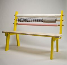 Multi-Functional Bench Stores Your Fabric While You Rest