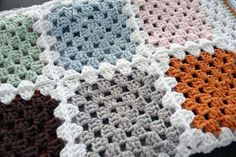 4 rows 1 color, 5th row white and do invisible seeming. Crochet Granny Square Blanket - Traditional square