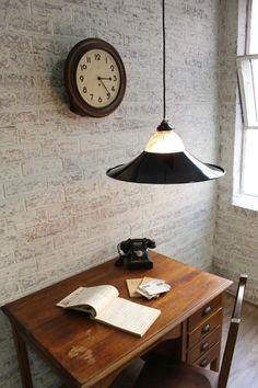 vintage home office settig