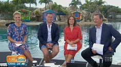 In hot water: The Today Show has been slammed on social media for filming at Sea World on Monday morning
