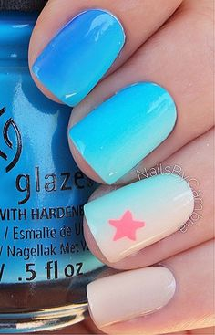 Ombre nails might be fantastic match to your clothes or accessories. The brief oval nails will also prove good when you have brief nail beds. These cute pumpkin nails may appear a bit tricky but you'll quickly see they are unbelievably simple to craf Cute Nail Art, Cute Nails, Pretty Nails, My Nails, Acrylic Nail Designs, Nail Art Designs, Acrylic Nails, Ocean Nail Art, Beach Nail Art