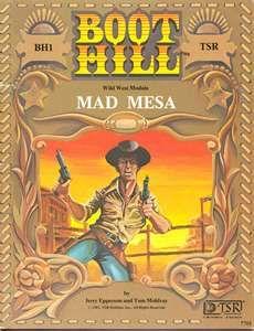 """Boot Hill RPG module """"Mad Mesa"""""""