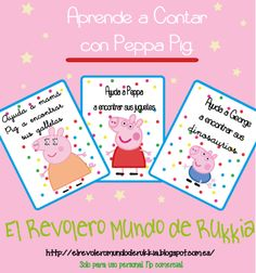 aprende a contar con peppa pig, aprender jugando, aprende numeros, juego peppa pig gratis, imprimible peppa pig