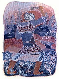 Тамара Григорьевна Юфа Book Illustration, Illustrations, Russian Folk, Wood Engraving, Contemporary Artists, Folk Art, Celtic, Fairy Tales, Skyrim