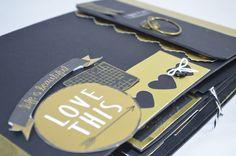 Tiempo y Lugar: Tutorial álbum negro y dorado: el reto al que no l...