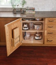 Organize your appliances out of sight.