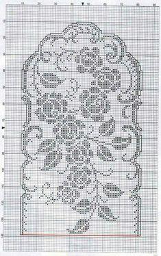 Annie's Crochet, Filet Crochet, Crochet Doilies, Crochet Table Runner Pattern, Crochet Tablecloth, Lace Patterns, Color Patterns, Cross Stitch Flowers, Crochet Projects
