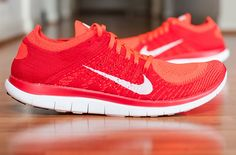 b021b99f3ee57 Nike FREE FLYKNIT 4 TRAINER ONE CRIMSON WHITE RED 631053 601