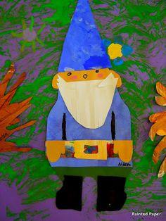 4th grade garden gnomes art lesson project