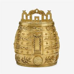 An Imperial Chinese gilt bronze ritual bell, bianzhong, Ming dynasty