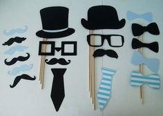 Photo Booth Props Baby Boy lil man Little by CustomCreativeCraft