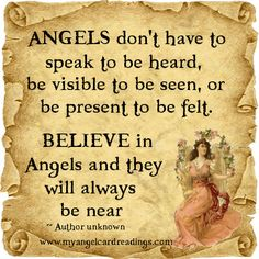 Angels will always be near.