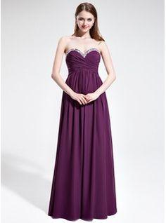 Empire Sweetheart Floor-Length Chiffon Prom Dress With Ruffle Beading (018025602) - JJsHouse