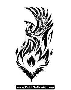 Gaelic Phoenix Tattoo | Celtic%20Phoenix%20Tattoos%20Designs%2007 Celtic Phoenix Tattoos ... #celtic #tattoos