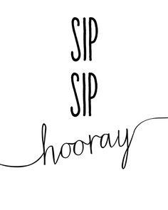 SIP SIP Hooray :: Free Printable