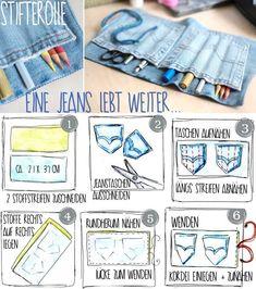 Habt ihr eine alte Jeans im Schrank, die ihr nicht mehr tragen wollt? Dann haucht ihr doch neues Leben ein – zum Beispiel als Stifterolle! Die kann jeder brauchen, ob für Kugelschreiber, Malstifte oder Schminkstifte… Die ganze Anleitung hier