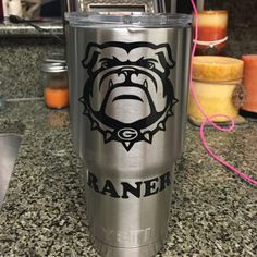 UGA Yeti Cup Decals by AllisonsCustomDesign on Etsy