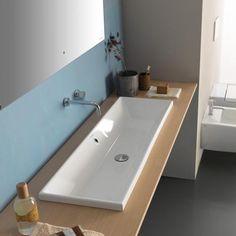 Globo Waschbecken 120cm waschbecken waschtisch doppelwaschbecken mit ablaufabdeckung