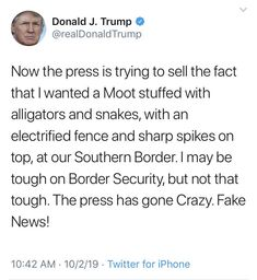 """""""Before it gets deleted: A """"Moot. Donald Trump Tweets, Spelling And Grammar, My Opinions, Things I Want, Things To Sell, Twitter Sign Up, Politics, Facts, Shit Happens"""