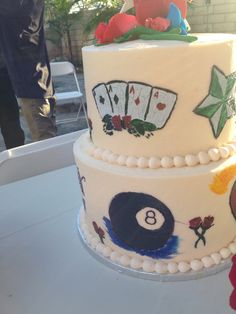 Sailor Jerry tattoo baby shower cake