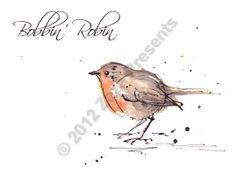 Bobbin' Robin - Bird Watercolour Greetings