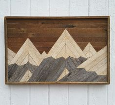 Past Reclaimed Wood Wall Art Mountain Range Lath by PastReclaimed