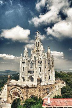 The Temple Expiatori del Sagrat Cor, Barcelona, Spain