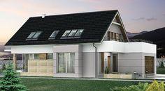 DOM.PL™ - Projekt domu HG-I22 CE - DOM AL1-92 - gotowy koszt budowy House Layout Plans, Dream House Plans, House Layouts, Mansions, House Styles, Outdoor Decor, Design, Plane, Home Decor