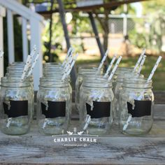 Our Mason Jar labels are the perfect touch for a a rustic farmhouse wedding favor. A great way to remember a wedding day this summer! Mason Jar Wedding Favors, Wedding Labels, Mason Jar Diy, Chalkboard Labels, Chalkboard Wedding, Wedding Chalkboards, Wooden Cake Toppers, Custom Cake Toppers, Rolled Paper Flowers