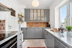 Apartment in Bergen. Ikea grey bodbyn kitchen
