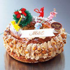 大きなリース状のシュー生地の間にバタークリームをイン。【クリスマス届け専用】【高島屋限定】パリ・ブレスト
