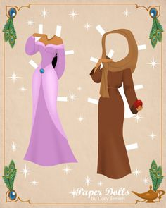 aladdin paper dolls 1 | paper dolls by cory