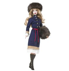Image detail for -dolls of the world russian barbie pink label collection this is by far ...