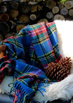 SOLD >> Wool Plaid Blanket by BetweenhitchingPosts on Etsy, $49.99