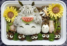 Bento #61: Summer Totoro bento! by AnnaTheRed, via Flickr