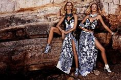 Resort 2013 Fashion Ad Campaigns for Roberto Cavalli  Models: Karolina Kurkova and Anne Vyalitsyna  Photographer: Giampaolo Sgura